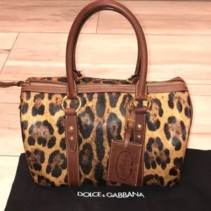 Dolce & Gabbana leopard animalier leather tote